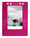 "Pink Chihuahua 4"" x 6"" Magnetic Photo Frame (Vertical/Portrait)"