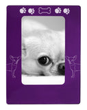 "Purple Chihuahua 4"" x 6"" Magnetic Photo Frame (Vertical/Portrait)"