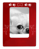 "Red Chihuahua 4"" x 6"" Magnetic Photo Frame (Vertical/Portrait)"
