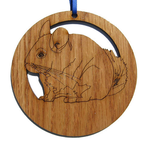 4 inch Chinchilla Laser-etched Ornament