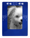 "Blue Chinese Crested 4"" x 6"" Magnetic Photo Frame (Vertical/Portrait)"