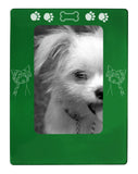 "Green Chinese Crested 4"" x 6"" Magnetic Photo Frame (Vertical/Portrait)"