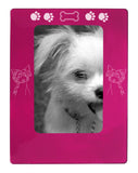 "Pink Chinese Crested 4"" x 6"" Magnetic Photo Frame (Vertical/Portrait)"