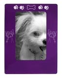 "Purple Chinese Crested 4"" x 6"" Magnetic Photo Frame (Vertical/Portrait)"