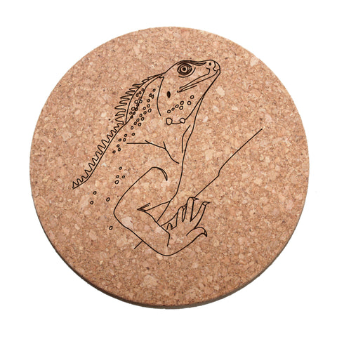 Chinese Water Dragon Cork Trivet