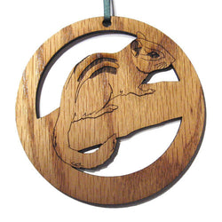 4 inch Chipmunk Laser-etched Ornament