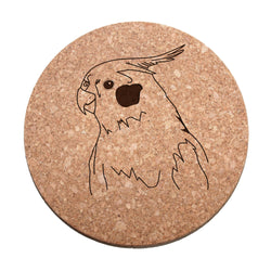 Cockatiel Bird Cork Trivet