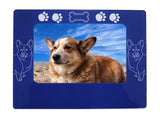 "Blue Corgi Dog 4"" x 6"" Magnetic Photo Frame (Horizontal/Landscape)"