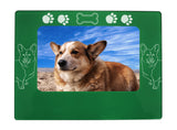 "Green Corgi Dog 4"" x 6"" Magnetic Photo Frame (Horizontal/Landscape)"