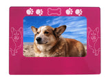 "Pink Corgi Dog 4"" x 6"" Magnetic Photo Frame (Horizontal/Landscape)"