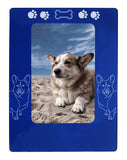 "Blue Corgi Dog 4"" x 6"" Magnetic Photo Frame (Vertical/Portrait)"