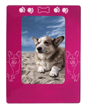 "Pink Corgi Dog 4"" x 6"" Magnetic Photo Frame (Vertical/Portrait)"