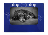 "Blue Dachshund 4"" x 6"" Magnetic Photo Frame (Horizontal/Landscape)"