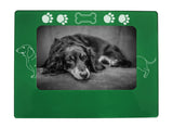 "Green Dachshund 4"" x 6"" Magnetic Photo Frame (Horizontal/Landscape)"