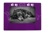 "Purple Dachshund 4"" x 6"" Magnetic Photo Frame (Horizontal/Landscape)"
