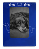 "Blue Dachshund 4"" x 6"" Magnetic Photo Frame (Vertical/Portrait)"