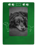 "Green Dachshund 4"" x 6"" Magnetic Photo Frame (Vertical/Portrait)"