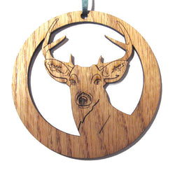 4 inch Deer Laser-etched Ornament