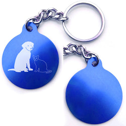 Dog And Cat Pals Key Chain