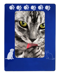 "Blue Dog & Cat Pals 4"" x 6"" Magnetic Photo Frame (Vertical/Portrait)"
