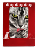 "Red Dog & Cat Pals 4"" x 6"" Magnetic Photo Frame (Vertical/Portrait)"