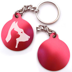 Dog And Cat Profiles Key Chain