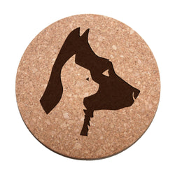 Dog And Cat Profiles Cork Trivet