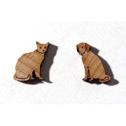Laser-cut Dog & Cat Pals Earrings