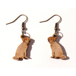 Laser-cut Dog Earrings