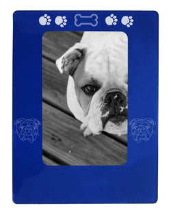 "Blue English Bulldog 4"" x 6"" Magnetic Photo Frame (Vertical/Portrait)"