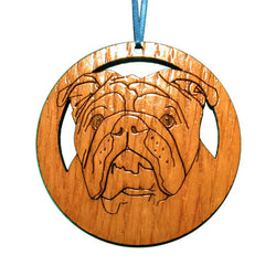 4 inch English Bulldog Laser-etched Ornament