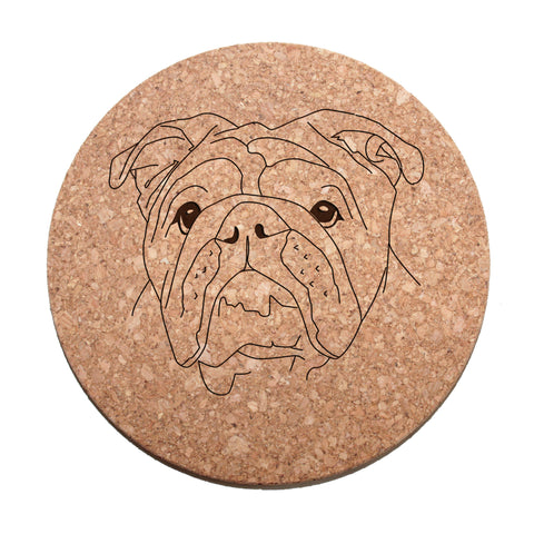 English Bulldog Cork Trivet