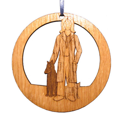 4 inch Female Veterinarian Laser-etched Ornament