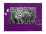 "Purple Ferret 4"" x 6"" Magnetic Photo Frame (Horizontal/Landscape)"