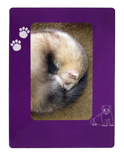 "Purple Ferret 4"" x 6"" Magnetic Photo Frame (Vertical/Portrait)"