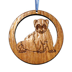 4 inch Ferret Laser-etched Ornament