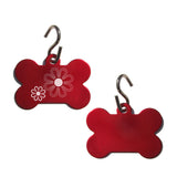 Flowers Pet ID Tag