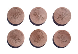Gecko Maple Magnet Set of 6