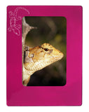 "Pink Gecko 4"" x 6"" Magnetic Photo Frame (Vertical/Portrait)"