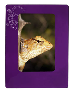 "Purple Gecko 4"" x 6"" Magnetic Photo Frame (Vertical/Portrait)"
