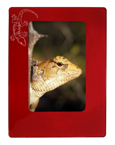 "Red Gecko 4"" x 6"" Magnetic Photo Frame (Vertical/Portrait)"