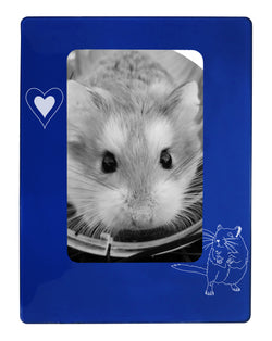 "Blue Gerbil 4"" x 6"" Magnetic Photo Frame (Vertical/Portrait)"