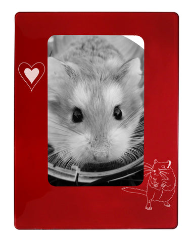 "Red Gerbil 4"" x 6"" Magnetic Photo Frame (Vertical/Portrait)"