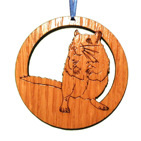 4 inch Gerbil Laser-etched Ornament