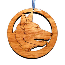 4 inch German Shepherd Face Laser-etched Ornament