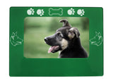 "Green German Shepherd 4"" x 6"" Magnetic Photo Frame (Horizontal/Landscape)"
