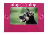 "Pink German Shepherd 4"" x 6"" Magnetic Photo Frame (Horizontal/Landscape)"