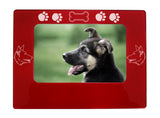 "Red German Shepherd 4"" x 6"" Magnetic Photo Frame (Horizontal/Landscape)"