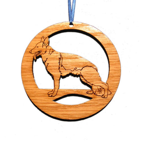 4 inch German Shepherd Laser-etched Ornament