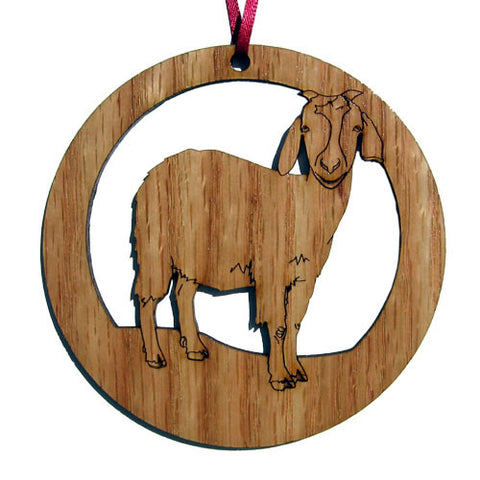 4 inch Goat Laser-etched Ornament